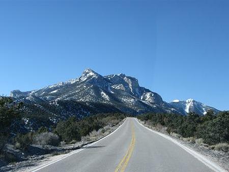 road to mount_charleston_nevada