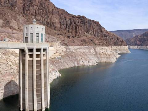 Nevada water intake tower at Hoover Dam