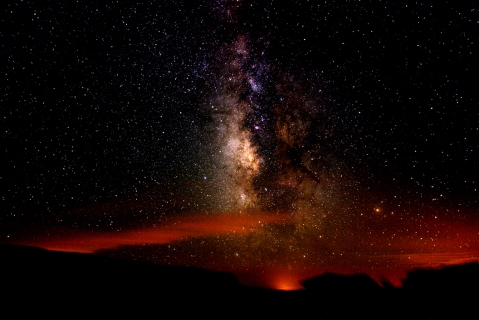 milky way at chaco canyon