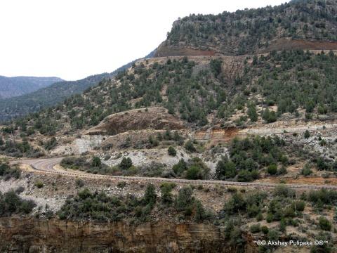 Salt River Canyon & route 77