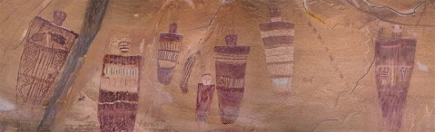 Part of the Great Gallery of Barrier Canyon style Rock art