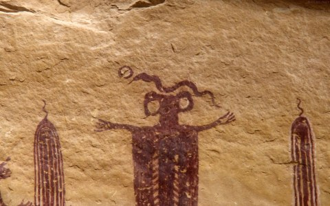 Skeleton Shaman pictograph